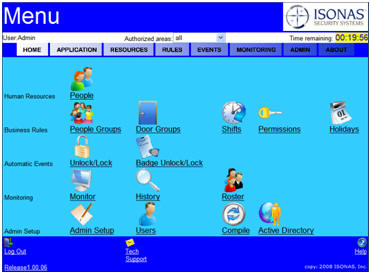 ISONAS Eweb-ACS Easy Web software